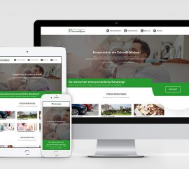 Website Relaunch Versicherungsvergleich Versicherungsmakler Grafikdesign Köln