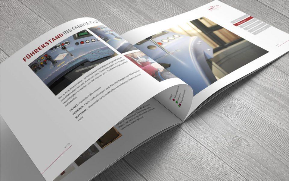 Info-Broschüre Instandsetzungen Grafikdesign Köln