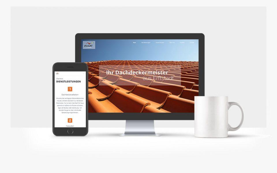 Grafikdesign Webdesign Köln Dachdecker Webseite